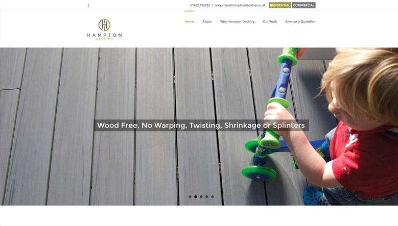 Hampton Decking Web Site