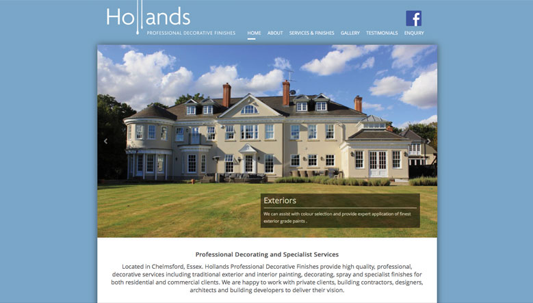 Hollands Professional Decorative Finishes Web Site